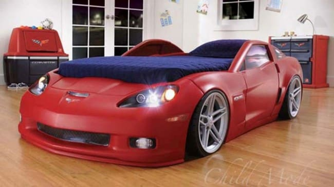 Letto A Forma Di Automobile : Chevrolet corvette una cameretta ispirata alla z06 quattroruote.it