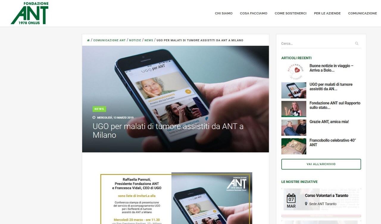Fondazione ANT - A Milano accompagnamento gratuito per malati oncologici