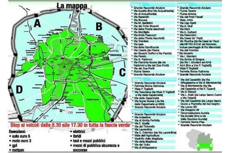 Cartina Della Fascia Verde A Roma.Inquinamento Domenica A Piedi Anche A Roma Quattroruote It