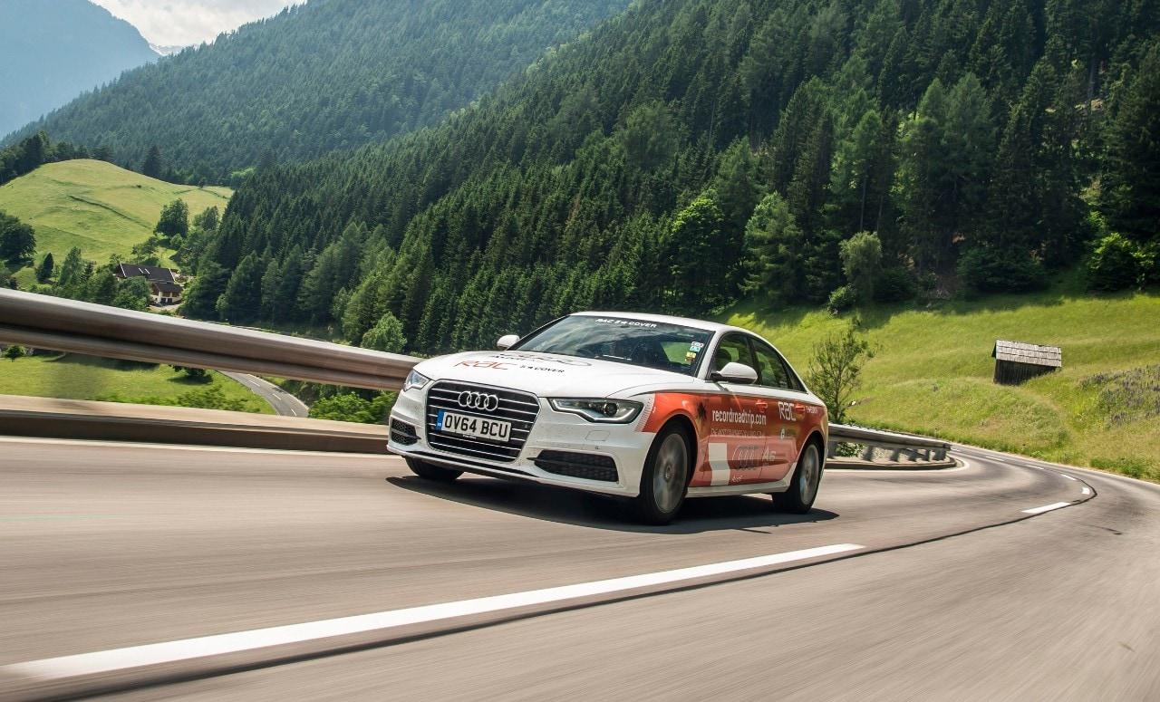 Audi A6 2.0 TDI ultra - La berlina attraversa 14 Paesi con un pieno: è record del mondo