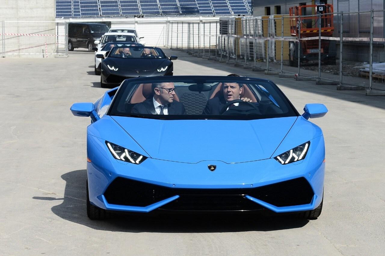 LamborghiniIl premier Renzi in visita a Sant'Agata