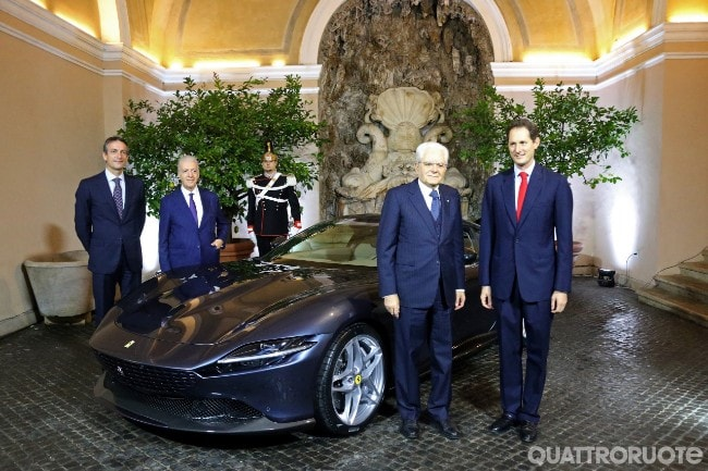 Ferrari Roma Sergio Mattarella riceve John Elkann