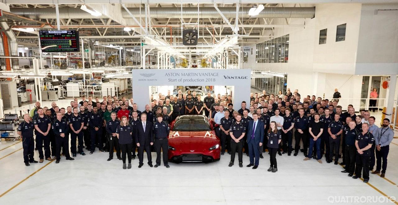 Aston Martin - Al via la produzione della Vantage
