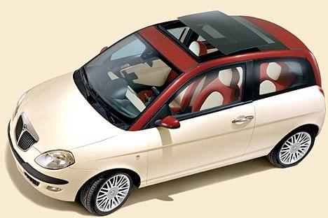 lancia ypsilon un 39 auto due colori. Black Bedroom Furniture Sets. Home Design Ideas