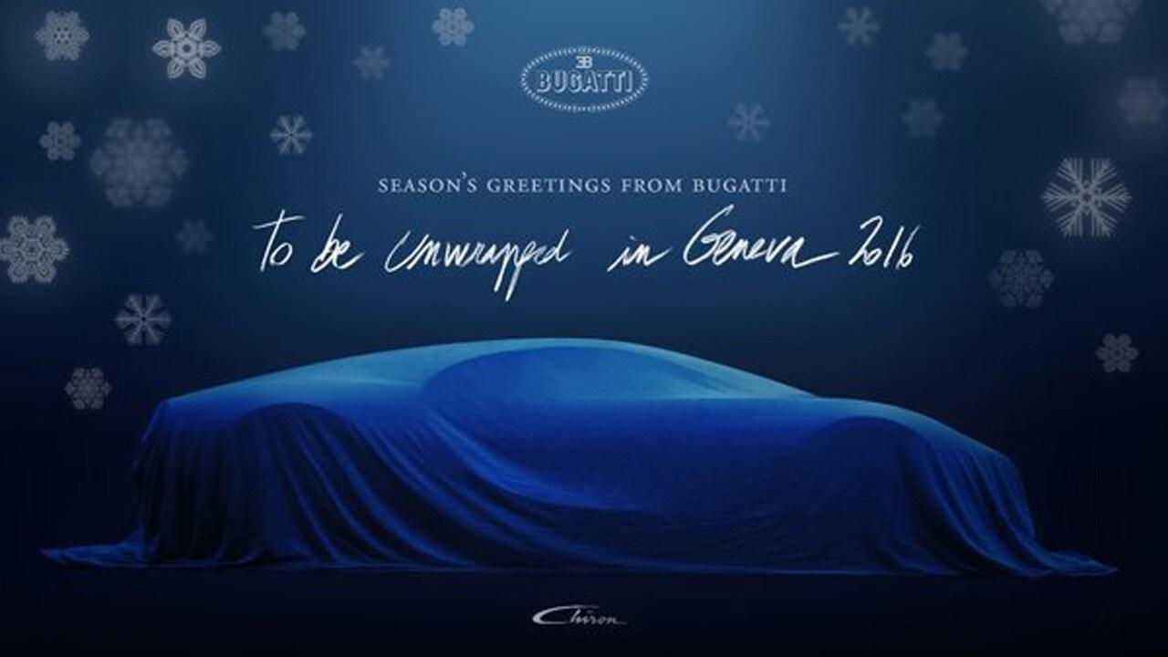 Bugatti chiron un teaser della hypercar come regalo di for Regalo tv usato