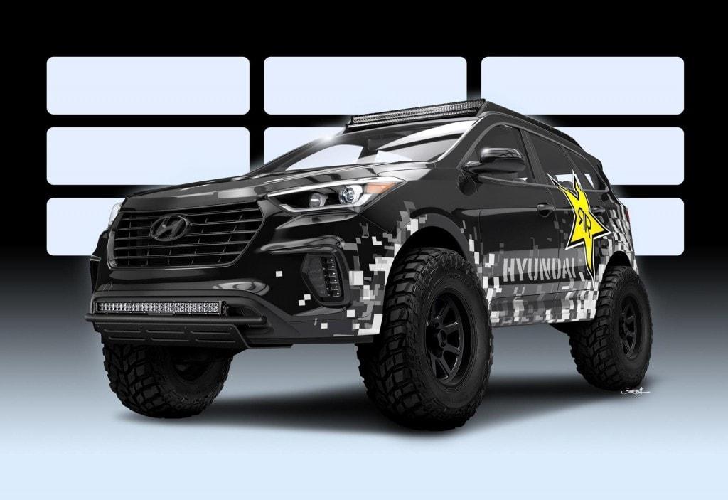 HyundaiDue Santa Fe elaborate al SEMA 2016
