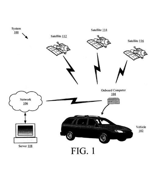 Un disegno del brevetto Google