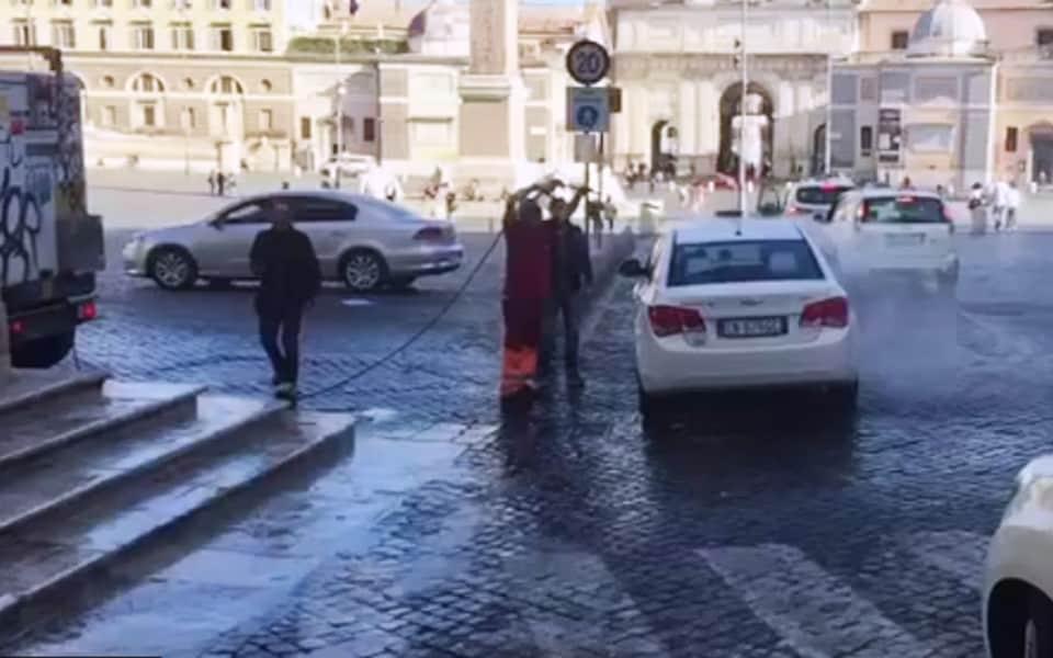 Piazza del popolo car wash express roma for Express wash roma