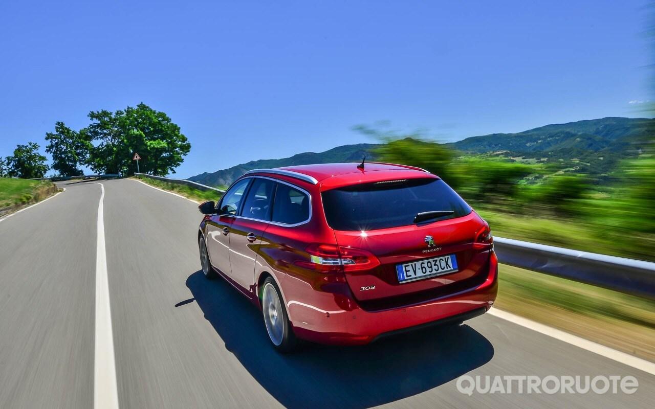 Peugeot 308 sw prova e opinioni benzina e diesel a confronto quattroruote it