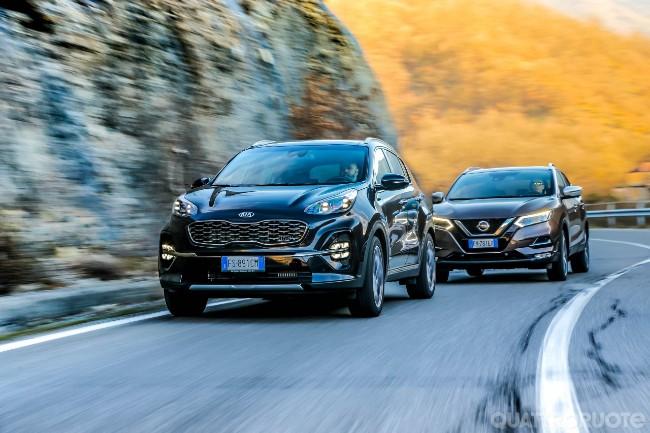Schema Elettrico Nissan Qashqai : Kia sportage vs nissan qashqai prova e opinioni sfida a