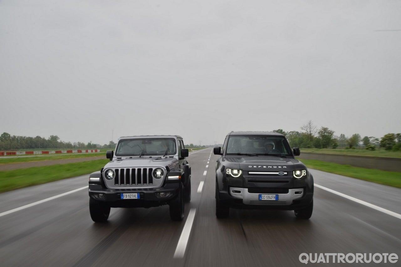 Sul numero di giugno - Jeep Wrangler e Land Rover Defender: sfida in off-road - VIDEO