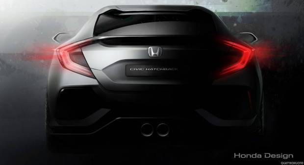 Honda Civic Hatchback Salone di Ginevra, tutta nuova la compatta giapponese