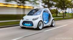 Smart vision EQ fortwo Una concept senza volante per il Car2go del 2030 - VIDEO