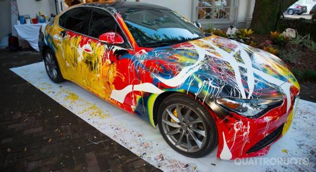 La berlina diventa un'opera d'arte