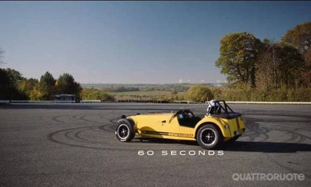 Burn out da record: 19 ciambelle in 60 secondi - VIDEO