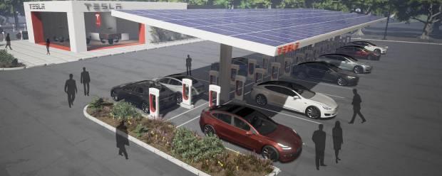 Tesla Supercharger Musk raddoppia le colonnine e punta anche alle città