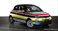 Fiat 500C Missoni Battuto all'asta l'esemplare unico di Garage Italia Customs
