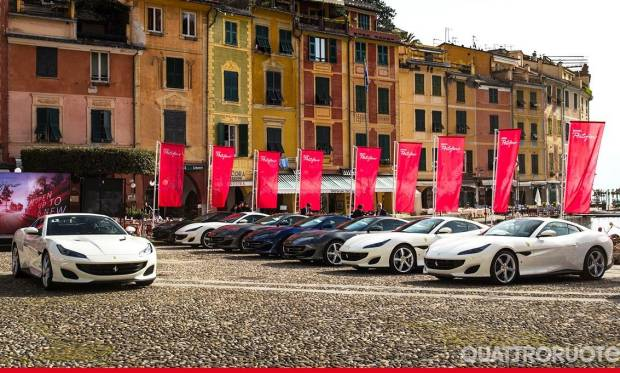 Ferrari Al via il tour europeo della Portofino