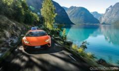 Viaggio con Huracán e Aventador nella terra dei fiordi