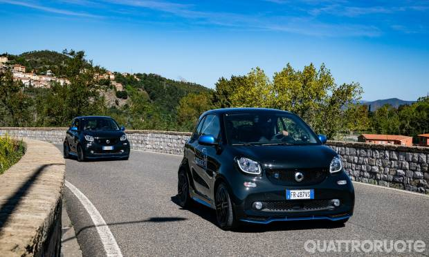 Con la EQ fortwo alla Green Power Run