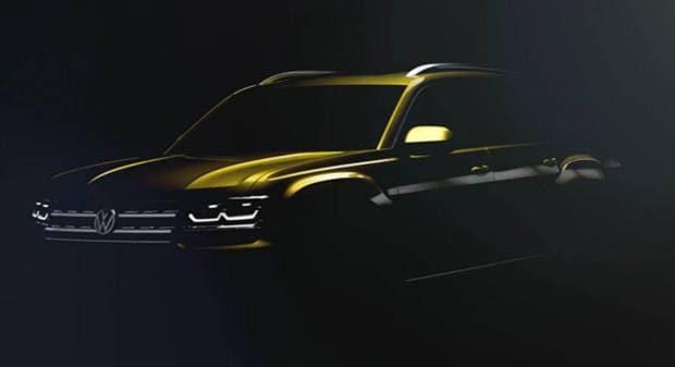 Volkswagen Atlas Bozzetto e video-teaser della crossover Usa