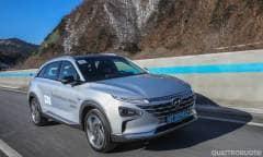 Al volante della nuova Suv fuel cell