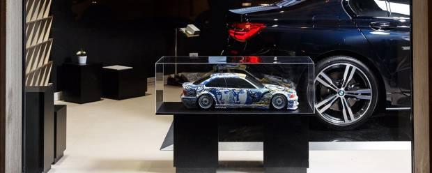 """BMW Art Car La """"maquette"""" di Sandro Chia in esposizione a Roma"""
