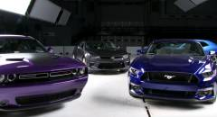 Crash test IIHS Le muscle car Usa non ottengono il Top Safety Pick