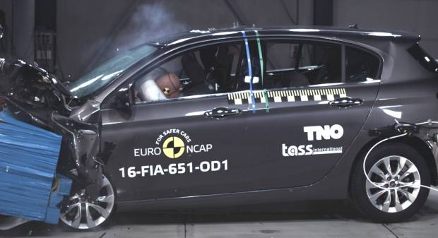 Crash test Euro NCAP Quattro stelle per la Fiat Tipo solo con il Safety Pack