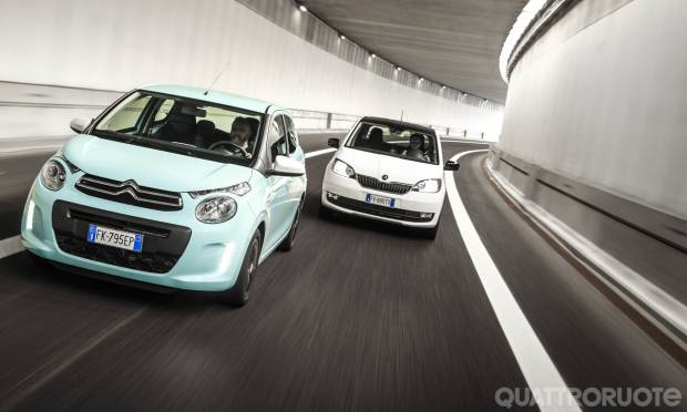 Citroën C1 vs Skoda Citigo, duello in città