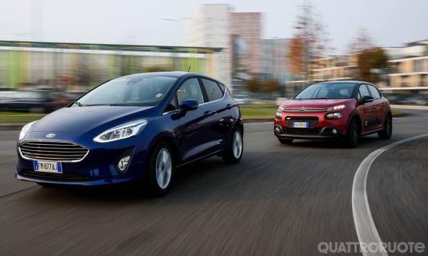 Citroën C3 vs Ford Fiesta: duello automatico