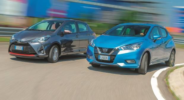 Nissan Vs Toyota A confronto i mille aspirati di Micra e Yaris