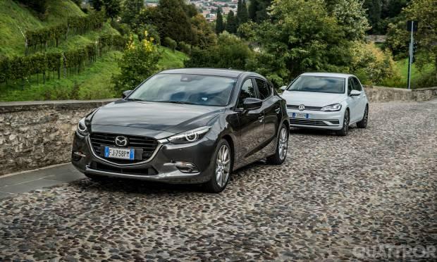 Il confronto tra Mazda3 e Volkswagen Golf