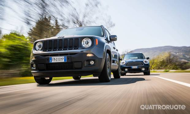 Sul numero di giugno Jeep Renegade vs Mini Countryman