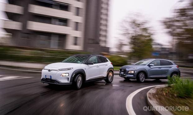 Sul numero di gennaio Hyundai Kona EV vs 1.6 CRDi