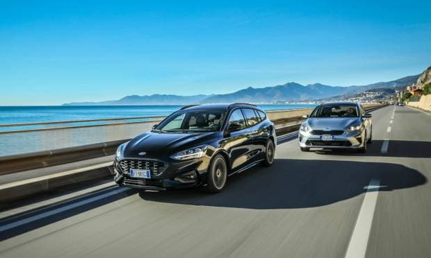 Sul numero di gennaio Kia Ceed Sportswagon vs Ford Focus Wagon