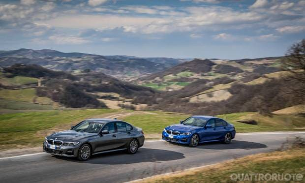 Sul numero di aprile BMW 320d XDrive M Sport vs 330i M Sport - VIDEO