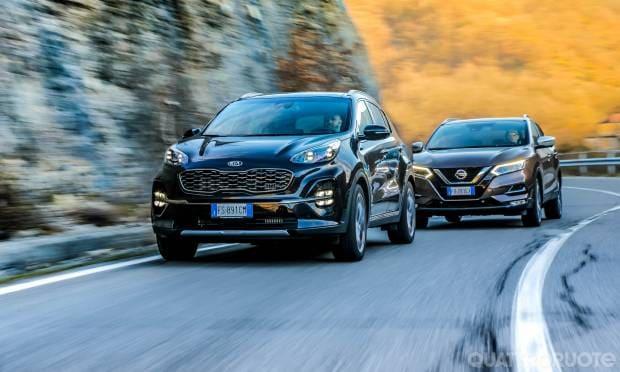 Kia Sportage vs Nissan Qashqai Sfida a benzina, tra la 1.6 T-GDI e la 1.3 DIG-T